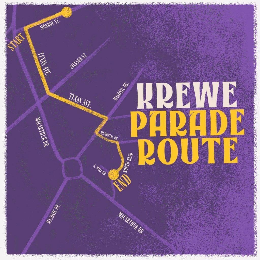 Krewe Parade Map
